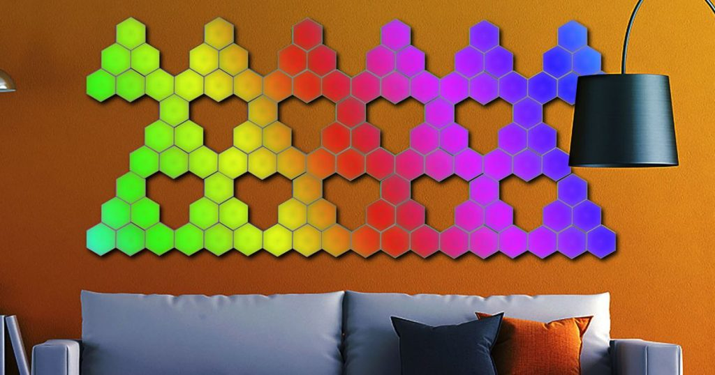 Add next-level lighting to any room with these touch-sensitive tiles