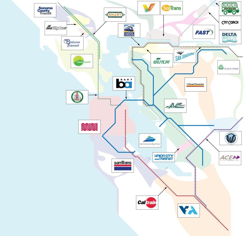 Borenstein: 27 Bay Area transit agencies! No wonder travel is so hard