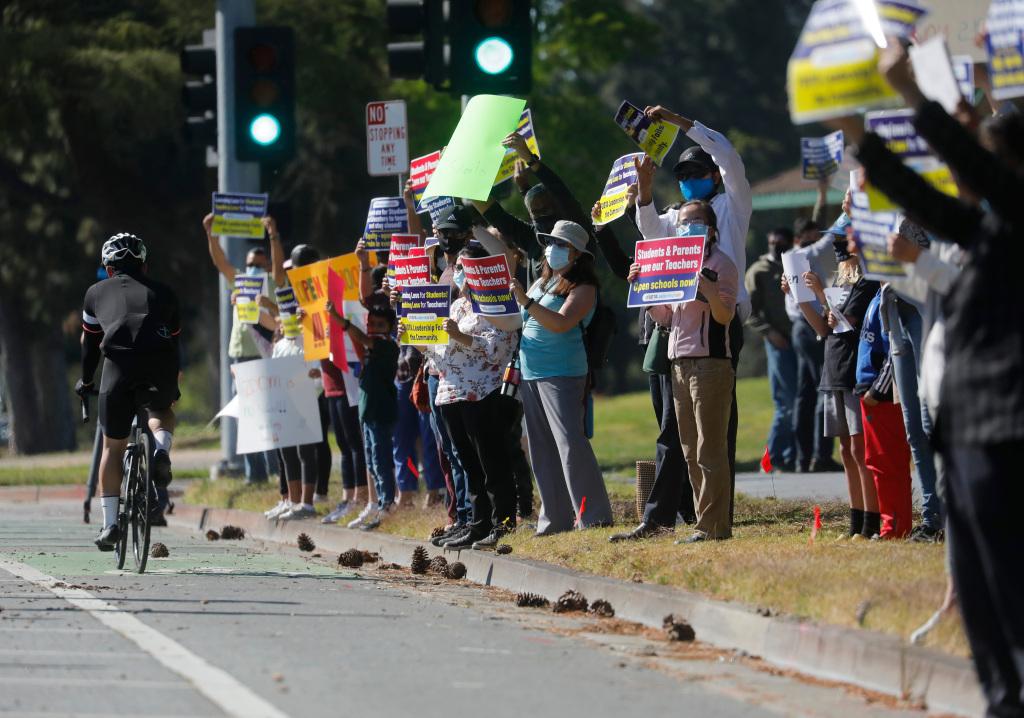COVID: Fremont parents rally demanding schools reopen