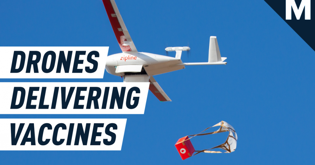 Drones are delivering COVID-19 vaccines in Africa through 'highways in the sky'