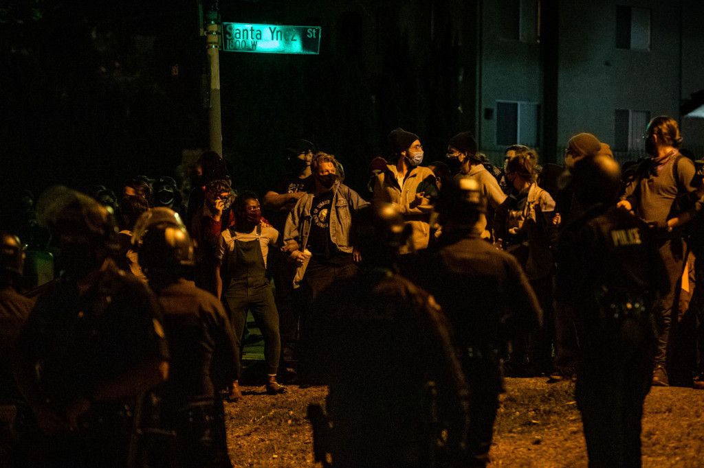 LAPD chief praises police response to Echo Park Lake protests, but activists point to violence, injuries