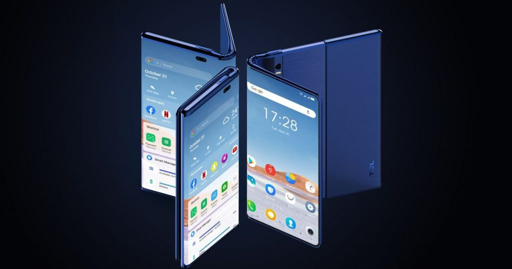 TCL's new concept phone unfolds and rolls out to get bigger and bigger