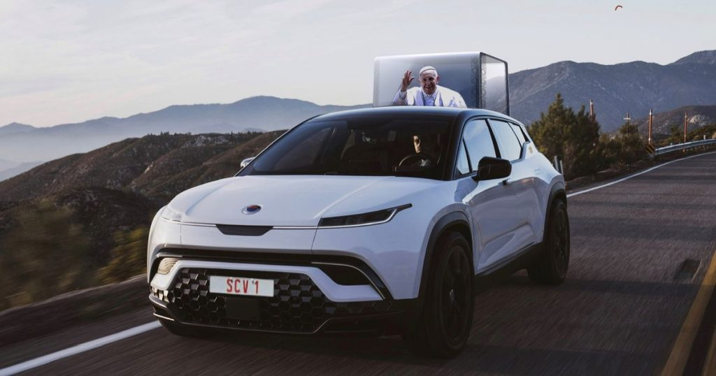 EV company Fisker wants to build Pope Francis an electric Popemobile