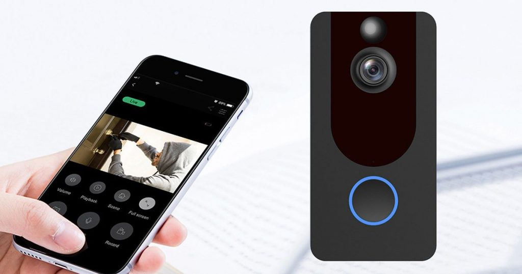 Invest in your home security with this smart video doorbell on sale
