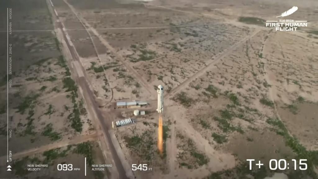 Jeff Bezos flies to space in historic Blue Origin flight
