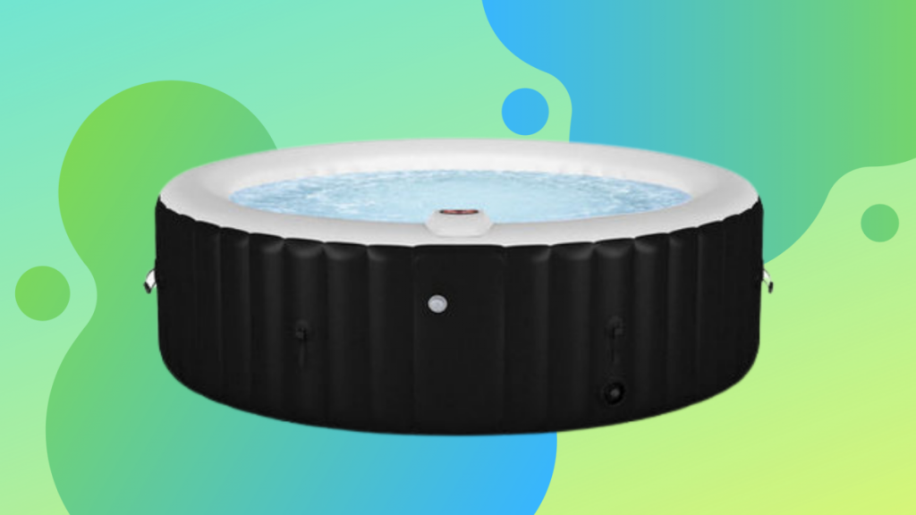 Save 22% on an inflatable massage hot tub you can set up in the yard