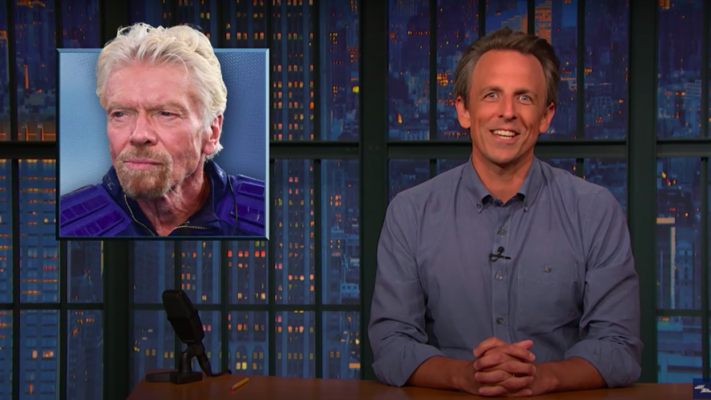 Seth Meyers on Richard Branson's space journey: 'That's not a rocket, it's just a plane that got cocky'