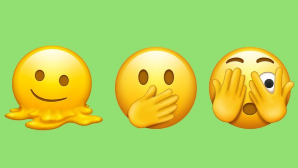 The latest batch of emojis features beans, orcs, and a melting face