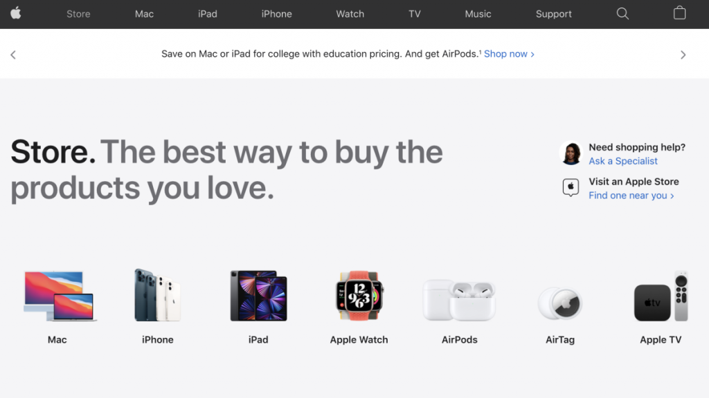 Apple redesigns its online store, makes it more like the iOS app