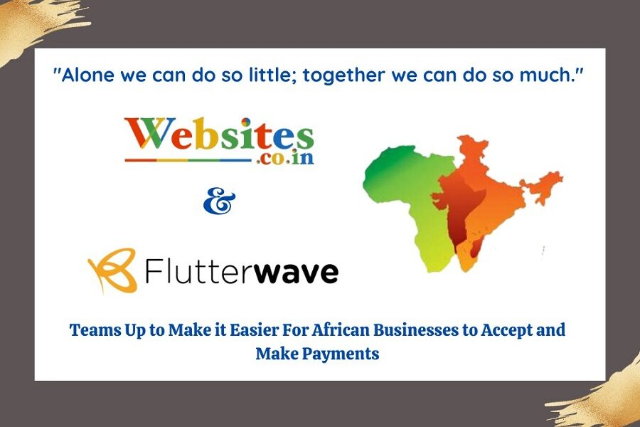 India's Websites.co.in and Flutterwave to provide free websites for African businesses