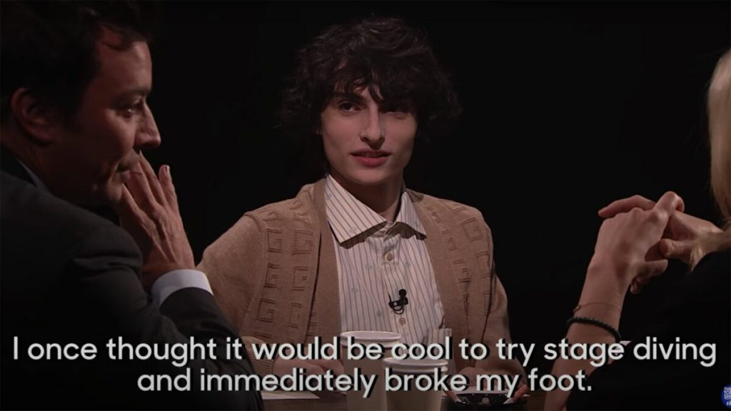 Finn Wolfhard tells a story about breaking his foot, and you won't be able to tell if it's real or a lie