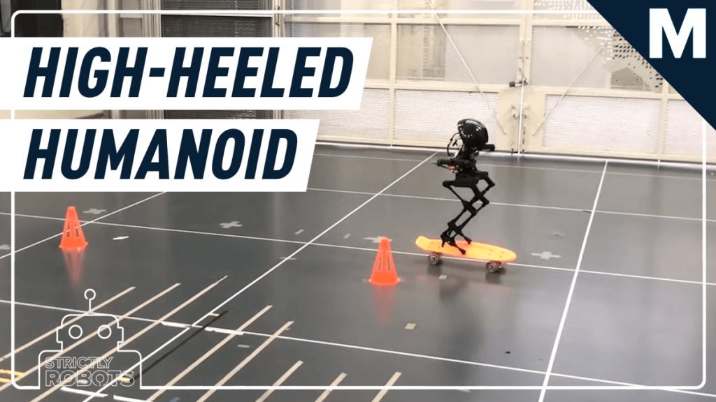 Part high-heeled humanoid, part drone, this robot is one smooth mover